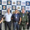 Jorge Baccelli, comandante interino Vilas Boas, Jaci Cardoso, subinspetor Guedes e Eduardo Teixeira