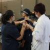 Guarda Municipal é vacinada contra a gripe no Parque da Uva