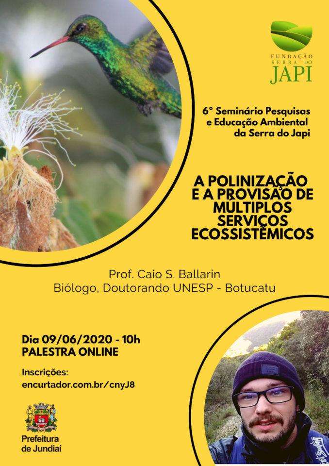 Palestra on-line com o biólogo Caio S. Ballarin será nesta terça-feira (9), às 10h