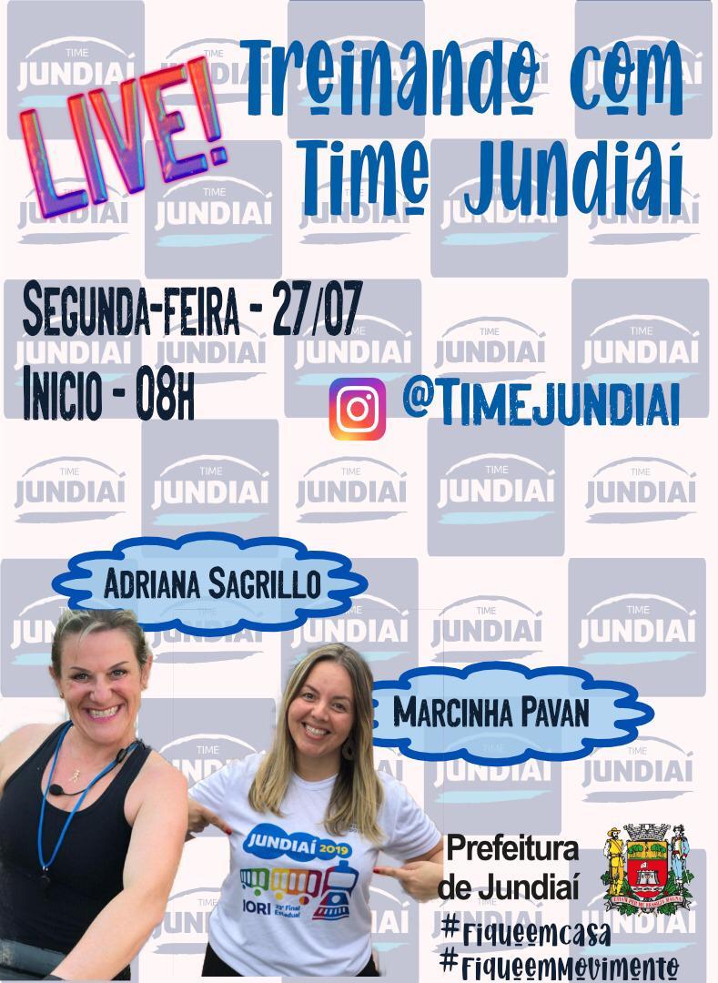 Live do TIME Jundiaí será às 8h desta segunda-feira