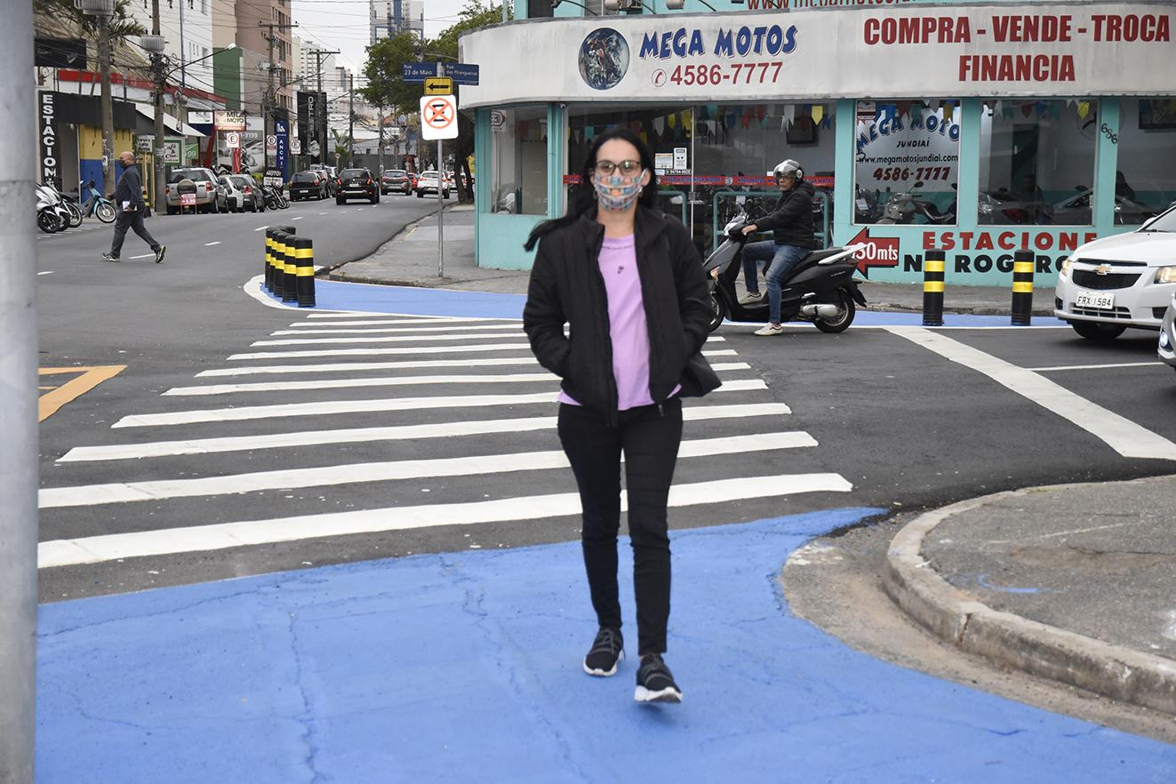 Bianca acredita que, com o projeto da prefeitura, a chance de atropelamentos no cruzamento das ruas Pitangueiras e 23 de Maio pode ser menor
