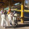 Passageiros receberam máscaras e folheto explicativo, com informações de como se prevenir da COVID-19