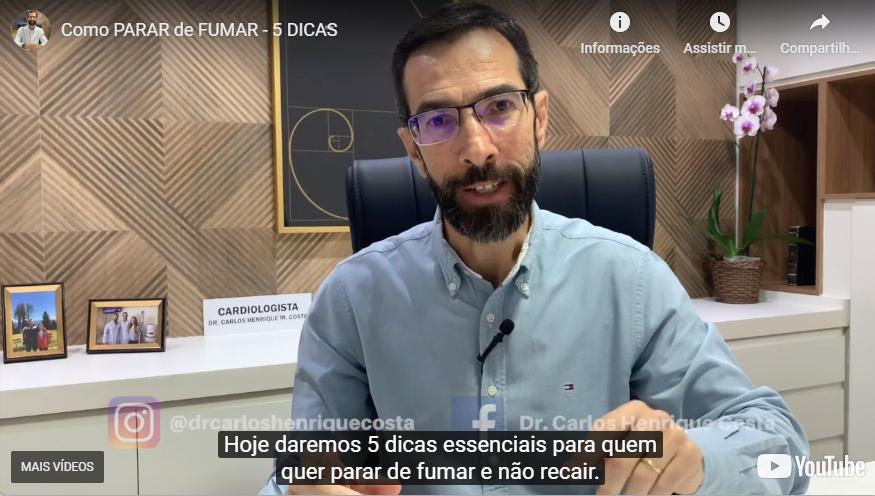 """Carlos Costa vai comandar no dia 29 de agosto uma """"live"""" sobre as complicações aos fumantes por causa da COVID-19"""