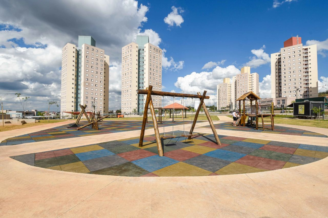 Espaço de  playground do Parque Cidade Jardim