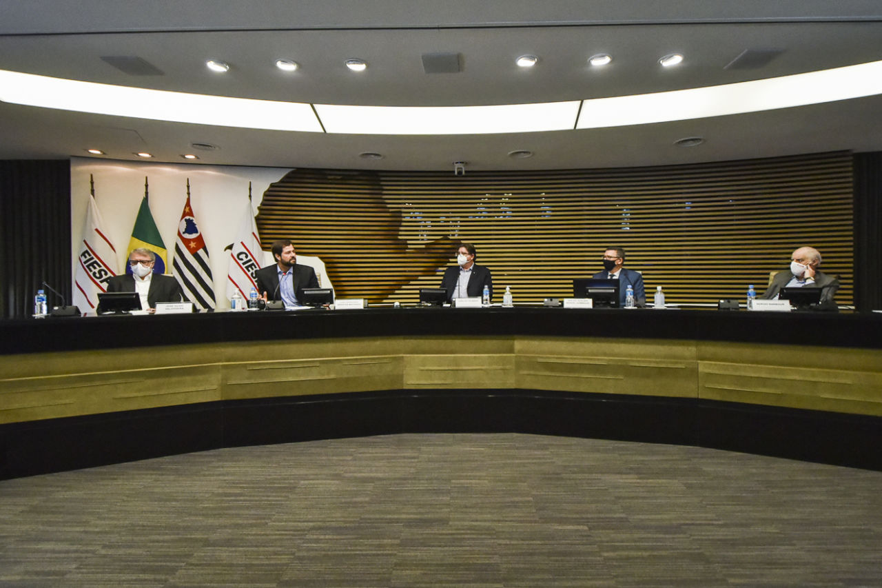 Auditório da Fiesp, no momento da palestra de Luiz Fernando Machado