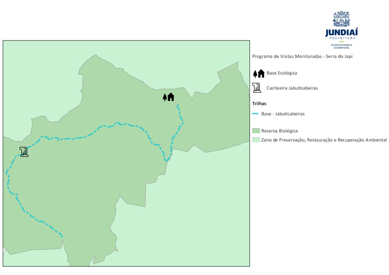 Mapa do Circuito Base EcológicaJabuticabeiras