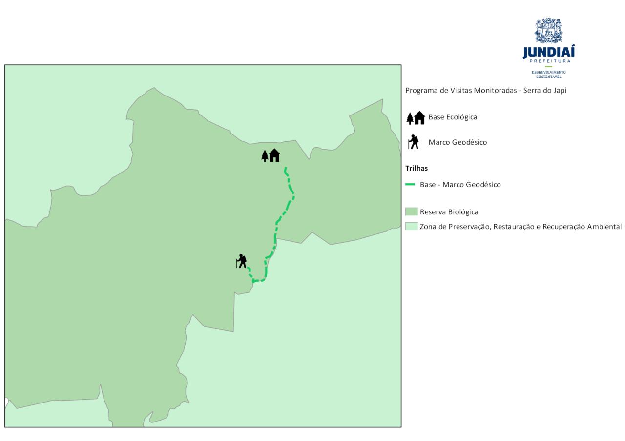 Mapa do Circuito Base Ecológica Marco Geodésico