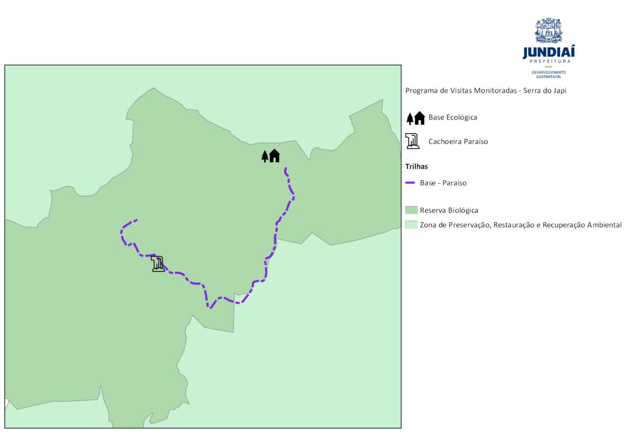 Mapa do Circuito Base EcológicaParaíso