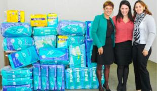 destaqueFundo Social recebe doações de fraldas e alimentos